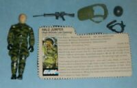 1984 GI Joe Halo Jumper Rip Cord v1 Figure w/ File Card *Wrong Color Gun