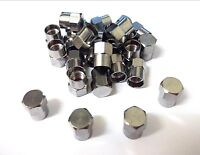 Chrome tyre valve caps. Hex. Light duty. Pack of 4. Dust caps. *Top Quality!