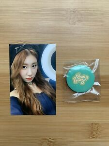 Kpop Itzy Official Chaeryeong Light Ring Pop Up Store Benefit Photocard & Badge