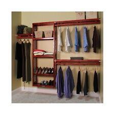 Closet Storage Organizer System Clothes Rack Solid Wood Wardrobe Easy Install