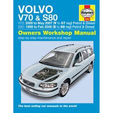 Volvo V70  S80 2.0 2.3 2.4 2.5 Petrol 2.4 Dsl 98-07 (S to 07 Reg) Haynes Manual