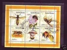 +3032+ TIMBRE GUINEE-BISSAU   BLOC ABEILLES  2001