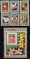 BENIN 1999 ORCHID STAMPS - MINT SET AND SOUVENIR SHEET!
