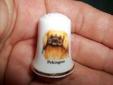 vintage Pekingese Dog Collectible ceramic Thimble figurine Lim.Edition