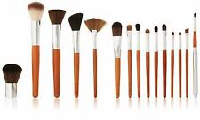 Vanity Planet Pallete Professional Makeup Brush Set - Birchwood Handle, 15 Piece