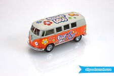 1962 Volkswagen Classical Hippie Bus 1:32 scale Die Cast Orange model VW Kombi