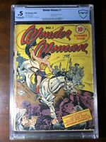 Wonder Woman #1 (1942) - Premiere Issue!!! - CBCS 0.5 (Not CGC) - Mega Key!!!