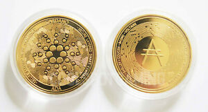 Cardano ADA Novelty Collectible Gold Plated Coin & Capsule - UK Dispatch