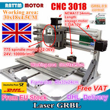 【EU Stock】 3 Axis DIY Desktop Mini CNC Router Kit 3018 Engraving Milling Machine