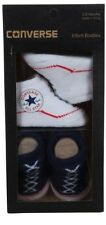 Converse All Star Zapatos de Bebé Azul Blanco Calcetines 0-6 Meses Caja Regalo