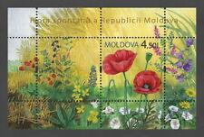 "Moldova 2009 Flora ""Wild Flowers"" Poppy MNH block"