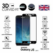 For Samsung Galaxy J5 (2017) 3D Curved Tempered Glass Lcd Screen Protector Black
