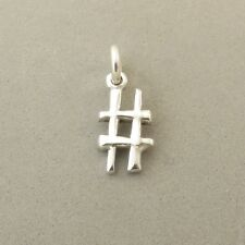 .925 Sterling Silver HASHTAG # SIGN CHARM Number Symbol Twitter NEW 925 SY13
