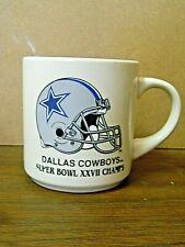 Vintage 1992 NFC Super Bowl 27 CHAMPIONS DALLAS COWBOYS coffee mug CUP