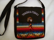 "Trinidad and Tobago handbag with lining and zippered compartment 8"" x 8"""