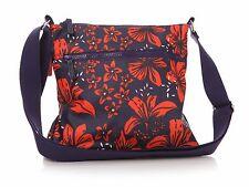 Lisa Buckridge Floral Tiger Lily Sling Cross Body Messenger Bag Navy Red