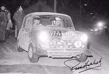 Paddy Hopkirk SIGNED 12x8  Mini-Cooper S Monte Carlo Rally 1968