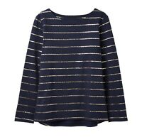 Joules Festive Harbour Print Jersey Top (Star Stripe)