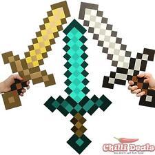 Minecraft game weapon 60cm DIAMOND IRON GOLDEN sword pick EVA Sword toy cosplay