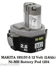 Makita 193157-5 12 Volts (2.6ah) Batterie Ni-Mh dessous 1234