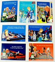Alcohol Tanqueray Vodka Gin  Advertising Postcards 1990's  (Lot of 7) Free Ship