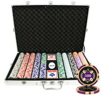 1000 14G ACE CASINO TABLE CLAY POKER CHIPS SET