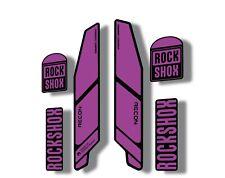 Rock Shox RECON 2021 Mountain Bike Cycling Decal Kit Sticker Adhesive Purple