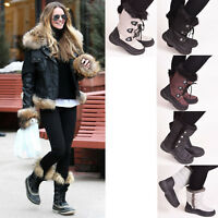 Ladies Womens Winter Snow Boots Fur Warm Waterproof Wellingtons Thermal Size 3-8