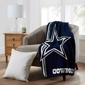"Dallas Cowboys 50"" x 60"" Plush Throw Blanket (NFL - Restructure)"