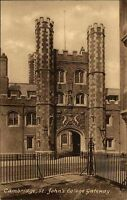 Cambridge Cambridgeshire England Postcard ~1920/30 St. John's College Gateway