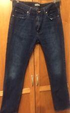 ACNE Men's 34 x 32 Dark Blue Smoke Jeans 199% Cotton # 3155
