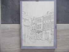 Petite lithographie sur la ville d'ARRAS – une rue du centre ville  - signé G.SE