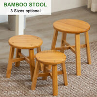 Wooden Stool Footstool Table Side Round Stool Chair Kid Stool Fishing Chair Home