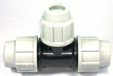 PLASSON 25MM MDPE COMPRESSION WATER PIPE EQUAL TEE 7040 (SS)