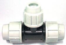PLASSON 32 mm mm MDPE Compressione Tubo Dell' Acqua pari TEE 7040 (SS)