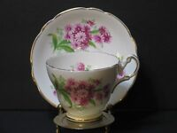 Regency Bone China Tea Cup & Saucer Set, Floral White, Pink & Gold Trim, England