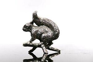 Vintage Squirrel White Metal Figure