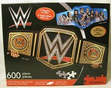 WWE WW Faces of Wrestling Belt 2 sided shaped 600 Piece Jigsaw Puzzle NEW