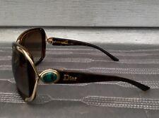 CHRISTIAN DIOR Copacabana Brown Tortoise Green Turquoise Gradient Sunglasses