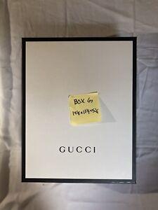 GUCCI GIFT BOX LARGE SIZE (BLACK + WHITE)
