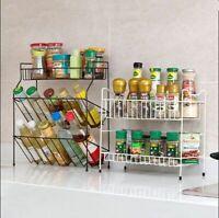 Kitchen Rack Organizer Dish Holder Condiments Spices Iron Storage Kitchen Tools