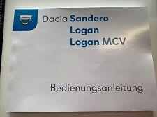 deutsche Bedienungsanleitung Dacia Sandero Logan MCV