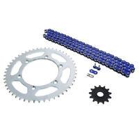 Yamaha 05-14 YZ125, 01-13 WR250F Blue Non O Ring Chain Sprocket Silver 13/50 114