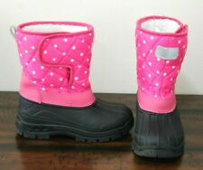 Zula Pink Star Snow Boots sz 13 Girls Insulated Winter Shoes Eeeuc All Weather
