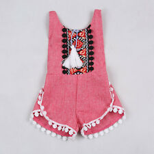 Summer Floral Girl Boy Kid Baby Romper Jumpsuit Sleeveless Clothes Outfits 85 US