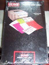 "QTY 5 BOXES ULINE PREMIUM LASER LABELS 8 1/2"" X 14"" 100 SHEETS / BOX FREE SHIP"