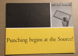 1958 IBM PORT-A-PUNCH BROCHURE