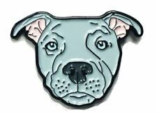 Blue Pitbull American Bully Pit Bull Terrier Breed Dog Lover Enamel Lapel Pin