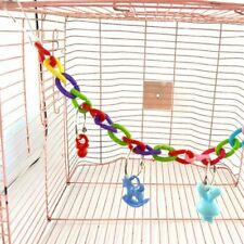 Acrylic Bird Toy Parrot Swing Hanging Cage Toys Climbing Chain Pet Birds Toy