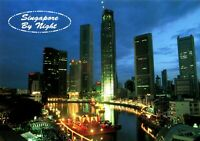 HQ -  neu / new  -  Postcard  -   Skyline   Singapore  by Night